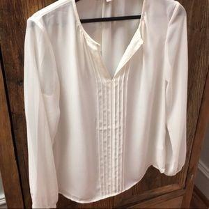 EUC Banana Republic white blouse